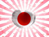 The Japan flag — Stock Photo