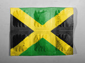 Jamaica flag painted on pills — Foto Stock