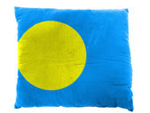 Palau flag painted on pillow — Stok fotoğraf