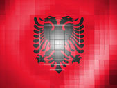 Albania. Albanian flag on wavy plastic surface — Stock Photo