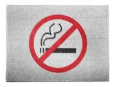 No smoking sign drawn at painted on carton box — Stock Photo