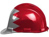 バーレーン。安全ヘルメットに描かれたバーレーンの旗 — ストック写真