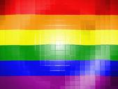 Bandiera di orgoglio gay sulla superficie di plastica ondulata — Foto Stock