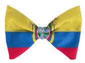Ecuador flag on a bow tie — Stock Photo
