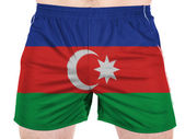 The Azerbaijani flag — Stock Photo