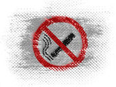 No smoking sign drawn at on dotted surface — Stock Photo