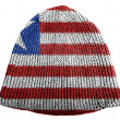 Stock Photo: Liberia. Liberiflag painted on cap