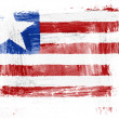 Stock Photo: Liberia. Liberiflag painted with watercolor on paper