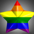 Foto de Stock  : Gay pride flag