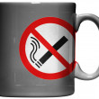 Stock Photo: No smoking sign drawn painted on coffee mug or cup