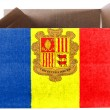 Andorra flag painted on carton box or package - Stock Photo
