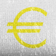 Euro currency sign painted on painted on bubblewrap — Stock Photo