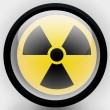 Nuclear radiation symbol painted on — Stock Photo #23441758