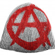 Stock Photo: Anarchy symbol painted n painted on cap