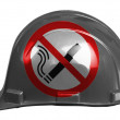 Stock Photo: No smoking sign drawn painted on safety helmet