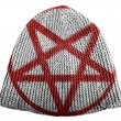 Stock Photo: Pentagram symbol painted on painted on cap