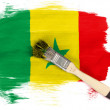 The Senegal flag - Stock Photo