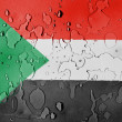 The Sudan flag - Stock Photo