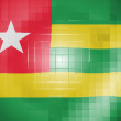 Stock Photo: Togo flag on wavy plastic surface