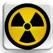 Stock Photo: Nuclear radiation symbol painted on glossy icon