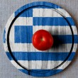 Stock Photo: The Greek flag