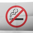 Stock Photo: No smoking sign painted on simple paper sheet