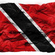 Trinidad and Tobago flag  painted on crumpled paper - Stock Photo
