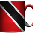 Trinidad and Tobago flag  painted on coffee mug or cup — Stock Photo