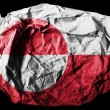 The Greenland flag - Stock Photo