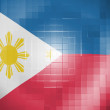 Stock Photo: Philippine flag on wavy plastic surface