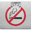 Stock Photo: No smoking sign drawn at painted on balance