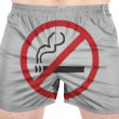 Stock Photo: No smoking sign painted on sport shirts