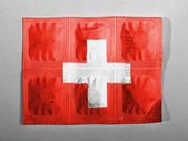The Swiss flag — Foto Stock
