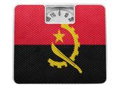Angola. angola bayrağı üzerinde denge boyalı — Stok fotoğraf