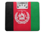 Vlajka afghánistánu na rovnováhu — Stock fotografie