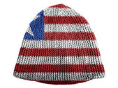 Liberia. Liberian flag painted on cap — Stock Photo