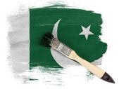 Die pakistanische flagge — Stockfoto