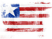 Liberia. Liberian flag painted with watercolor on paper — Stock Photo