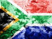South African flag painted dirty and grungy paper — Stock Photo