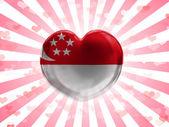 Flaggan singapore — Stockfoto