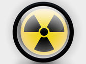 Nuclear radiation symbol painted on — Stock Photo