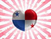 The Panama flag — Stock Photo