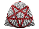 Pentagram symbol painted on painted on cap — Stock Photo