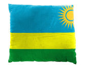 Ruanda flag painted on pillow — Stok fotoğraf