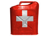 The Swiss flag — Stock Photo