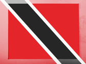 Trinidad and Tobago flag painted on grey envelope — Stock Photo