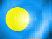 Palau flag on wavy plastic surface — Stock Photo