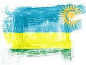 Ruanda flag painted with watercolor on paper — Stock Photo