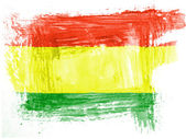 The Bolivian flag — Stock Photo