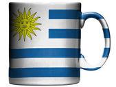コーヒー ・ マグやカップに描かれたウルグアイの旗 — ストック写真